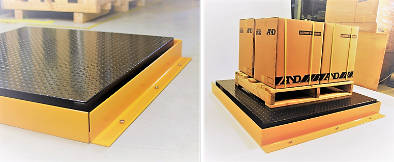 Custom forklift barriers to suit all A&D pallet scales