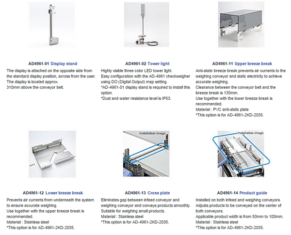 Check weighing accessories