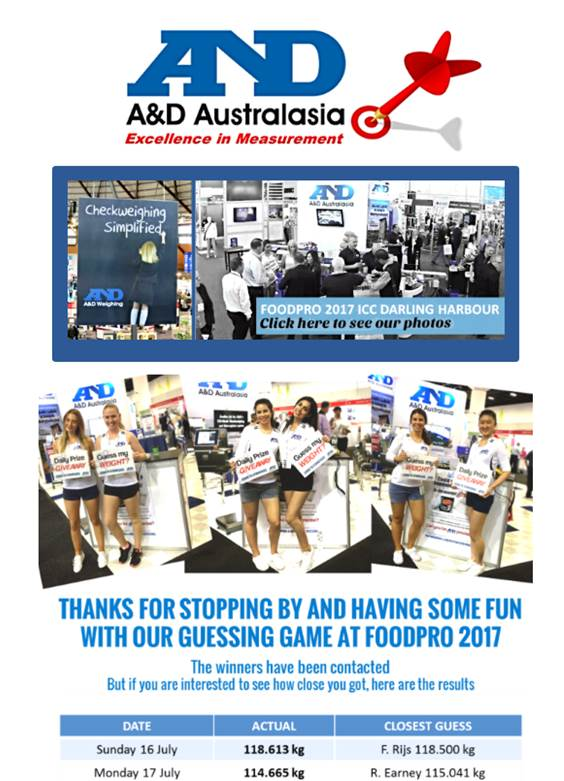 A&D Weighing Newsletter July 2017