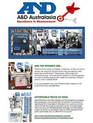 A&D Weighing Newsletter July 2014