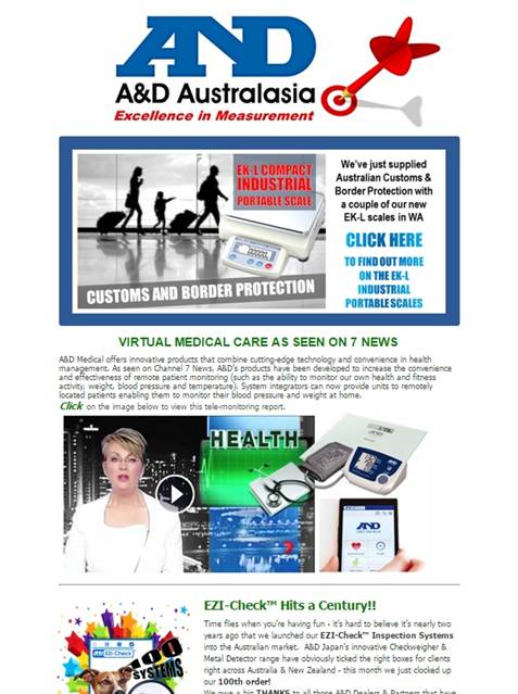 A&D Weighing Newsletter July 2015
