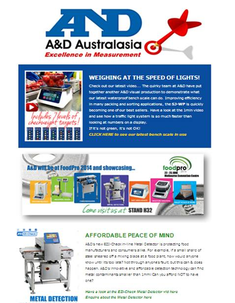 A&D Weighing Newsletter June 2014
