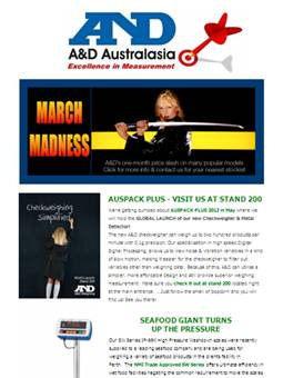 A&D Weighing Newsletter March 2013