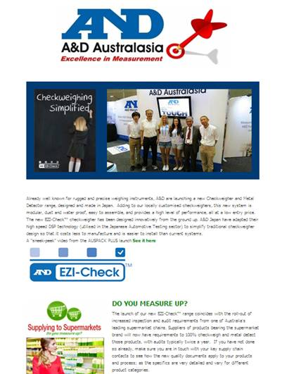 A&D Weighing Newsletter May 2013